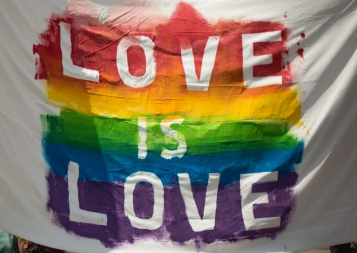 love is love rainbow flag