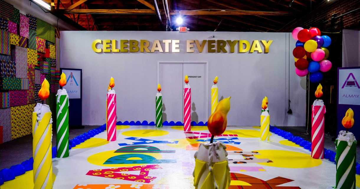 almay product launch celebrate immersive environment