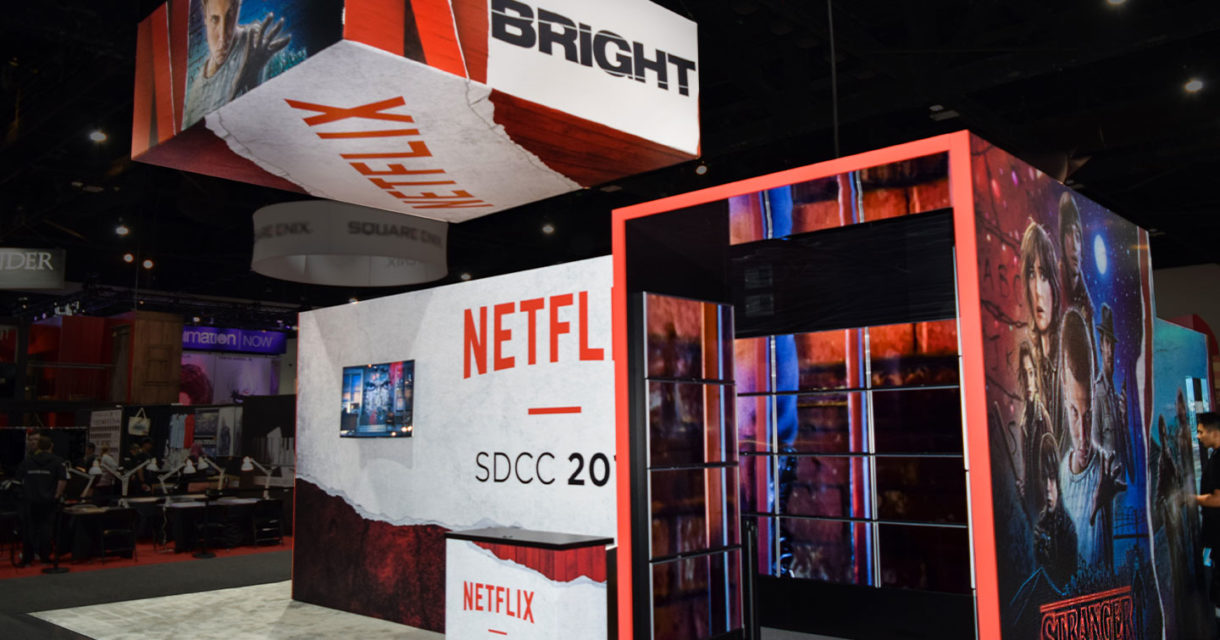 netflix comic con fgpg designed trade show exhibit