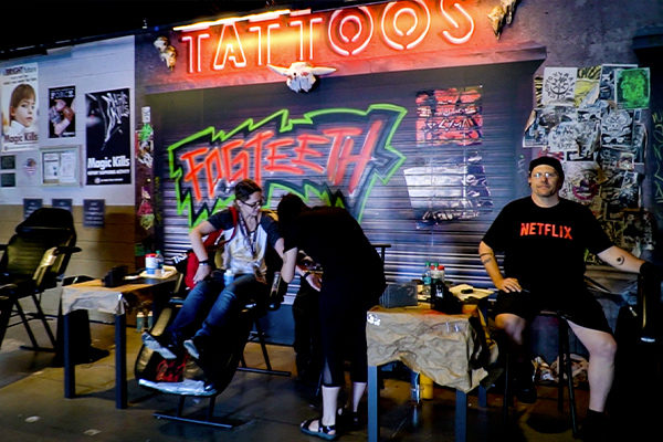 tattoo activation bright netflix fgpg comic con experiential