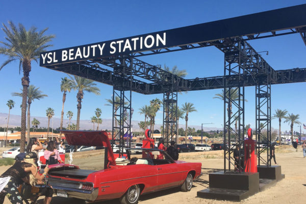 ysl beauty station experience at coachella