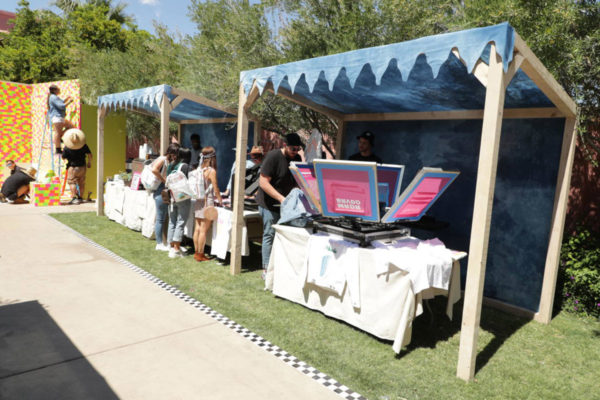 levis custom printing experience at coachella