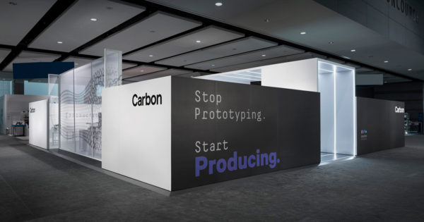 carbon trade show exhibit exterior brand shot