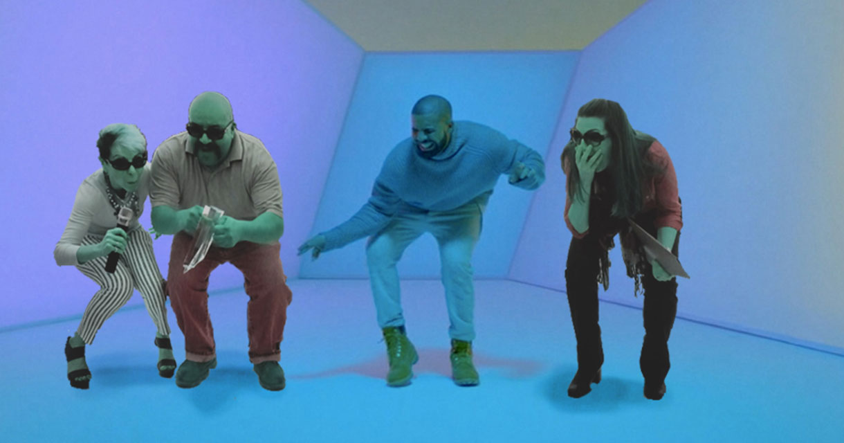 fgpg leadership photoshopped with drake in hot line bling music video
