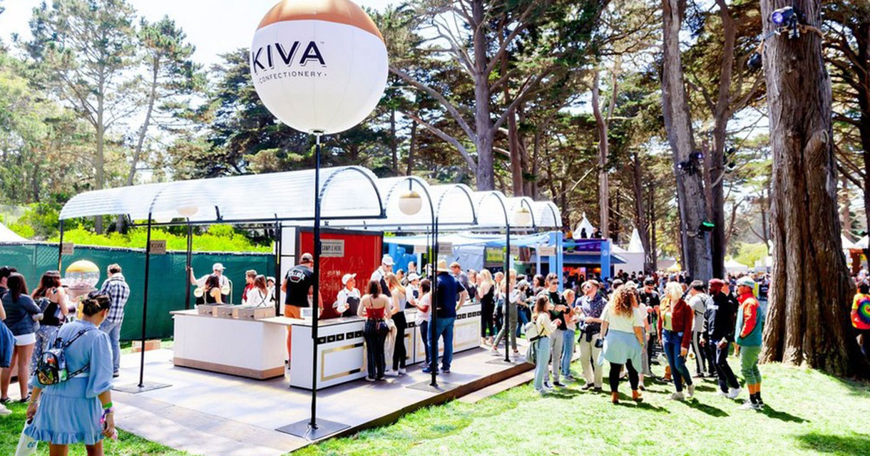 kiva confectionery outdoor pop-up experience