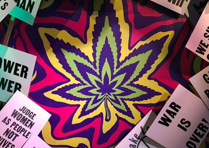 museum of weed marijuana leaf psychedelic colors propaganda signs fgpg blog