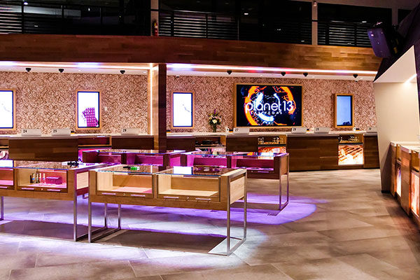 planet 13 cannabis store interior product displays