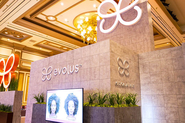 evolus brand activation trade show booth branded logo fgpg experiential