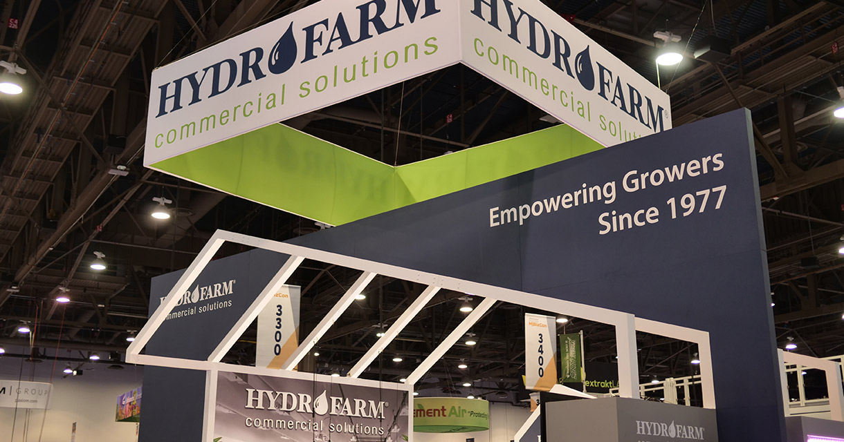 hydrofarm trade show booth display fgpg experiential