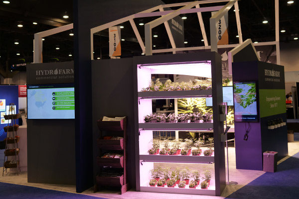 hydrofarm trade show booth greenhouse display fgpg experiential