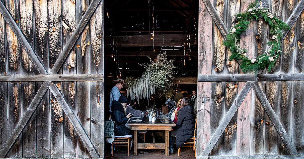 Roca Patron Secret Supper Experiential PopUp Open Barn Doors